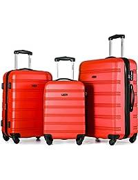 Rígida Maleta viaje maleta Zwilling ruedas maleta de viaje con cerradura de combinación equipaje de mano con 4Doble de ruedas, L XL de m