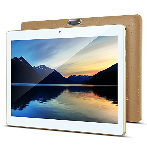 10 Zoll Android Tablet PC PADGENE 32G Speicher 2G RAM 0.3MP/2MP Kamera Dual-SIM Slots USB/SD IPS HD 1280x800 WiFi/3G/2G Entsperrt Bluetooth GPS Telefonfunktion - Edge 2gb Pc