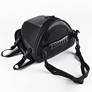 AllRight Motorcycle Rear Seat Saddle Bag, Multi-functional Waterproof Leather Motorcycle Bike Tank Bag