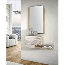 Slaap - Recibidor + espejo. Medidas recibidor 75X35X20cm.Medidas Espejo 50x70x2cm
