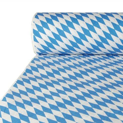 Papstar 12544  - confezione da tovaglie di carta con stampa damasco, rotolo da 50 m x 1 m, colore: blu baviera