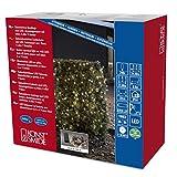 Konstsmide 3730-100 LED Lichterkette / für Außen (IP44) /  Batteriebetrieben: 4xD 1.5V (exkl.) / mit Lichtsensor, 6h und 9h Timer / 240 warm weiße Dioden / schwarzes Kabel