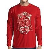 T-Shirt Manches Longues Homme Bière foncée (XX-Large Rouge Multicolore)