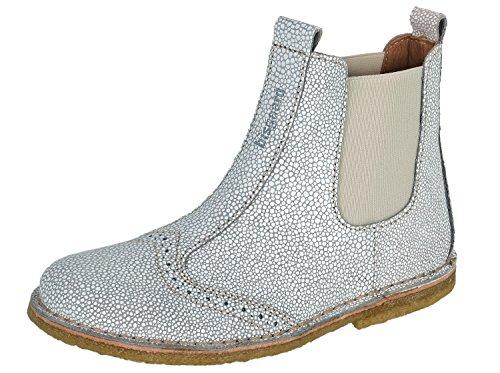 Bisgaard Boot, Bottes Chelsea courtes, doublure froide mixte enfant Weiß-Grau (76 Stone)
