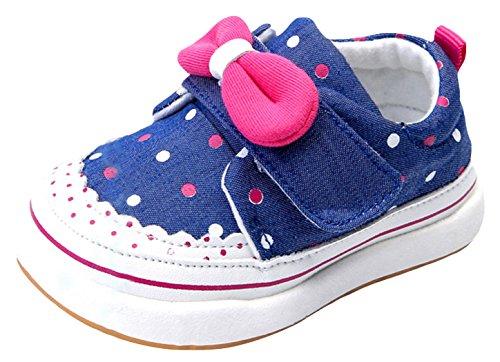 Eozy Baby Mädchen Lauflernschuhe Schleife Schuhe Sneaker Blau 19 Innerlänge 13cm