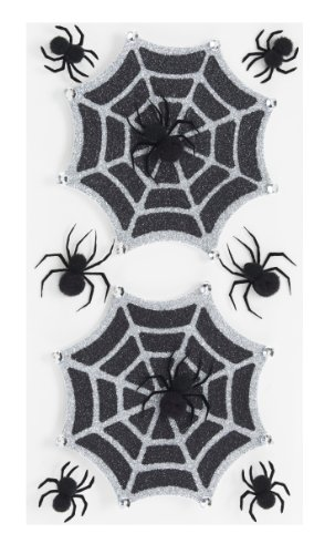 Jolee 's Boutique Parcel dreidimensionale Aufkleber, Glitzer Halloween Spiderweb