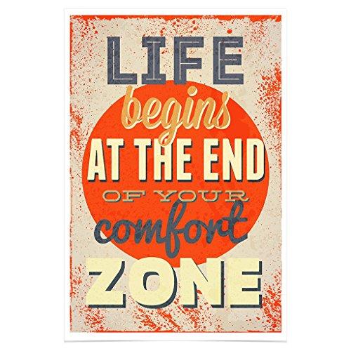 WonderwallPoster WP100A3 Motivation Spruch Poster Geschenk Bild Abnehmen Zitate – DIN A3 29,7 x 42 cm (Weitere Größen verfügbar) – Besonders edler Glanzfinish