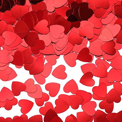 San Valentino Tavolo.Leinuosen 1000 Pezzi Coriandoli Cuore Cuoricini Rosso Per