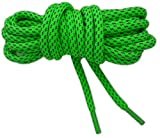 Neon Lacets sneakers rond rope réfléchissants 125cm haute qualité (vert fluo)