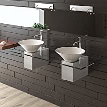 vasque double a poser. Black Bedroom Furniture Sets. Home Design Ideas