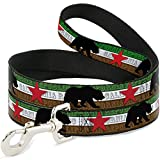 Buckle Down dl-6ft-w35505-n Pet Leash-cali Bär Silhouette & Star/California Republic grün/weiß/braun/schwarz/rot, 6 'L/5,1 cm W