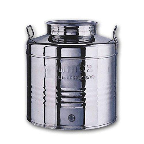 Contenitore fusto bidone olio acciaio INOX 30 LT conservazione olio liquidi FTC10031