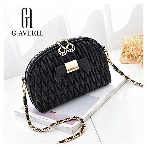G-AVERIL, Borsa a mano donna Grigio Grey Black