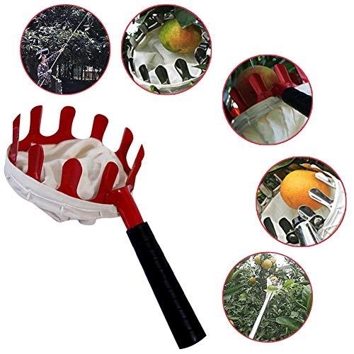 Deluxe-greifer (healingpie Obstpflücker, Outdoor-Obstpflücker für Apfel-Orangen-Pfirsich-Birne mit großem Fassungsvermögen, Deluxe-Leichtbau-Höhen-Apfelpflücker ohne Teleskopstange, landwirtschaftliche Gartengeräte)