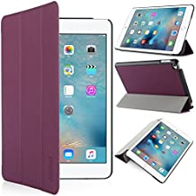 iHarbort® iPad mini 4 Funda - ultra delgado ligero Funda de piel de cuerpo entero smart cover para iPad mini 4, con la función del sueño / despierta (iPad mini 4, púrpura)