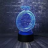 wangZJ 3d Illusion Lamp/usb Lamp/gradient Multicolor Night Light/home Art Decorativo/regalo per bambini / 24 diamanti Karat
