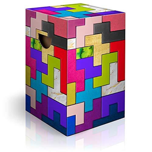 murando Papphocker Motiv Tetris 45x30x30 cm faltbar Papier Hocker ergonomischer Karton Photohocker Falthocker i-C-0134-ap-a