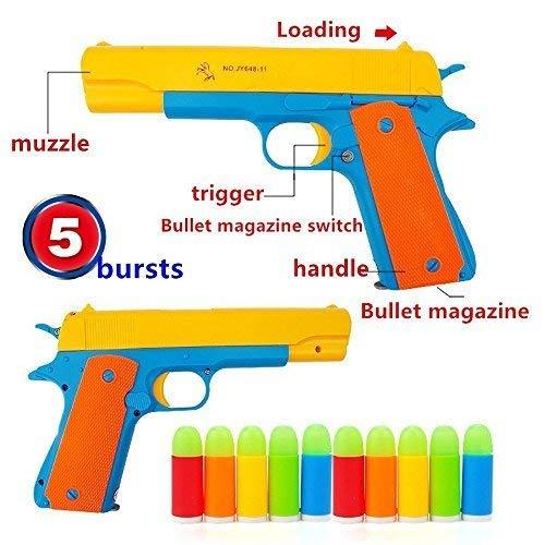 Real Kostüm Life - ferbixo New Toy Gun-Marke Neu Realistische 1: 1Maßstab Colt 1911Gummi Bullet Pistole
