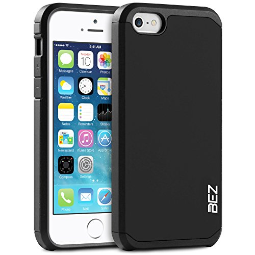 iPhone 5S Hülle, iPhone SE Hülle, BEZ® Stoßfestes Etui, [Heavy Duty Serie] Outdoor Dual Layer Armor Case Handy Schutzhülle [Shockproof] robuste Hülle für iPhone SE und iPhone 5 5S - - Iphone Militär Für Schutzhülle 5s