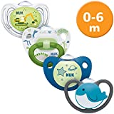 NUK 4er Schnuller-Set, 0-6 Monate, 1x Freestyle, 1x Happy Days, 1x Night & Day &...