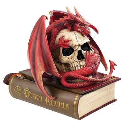 Design Toscano sang Dragon Contemplation sculpter Box