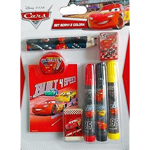 Disney Cars - Set scrivi e colora
