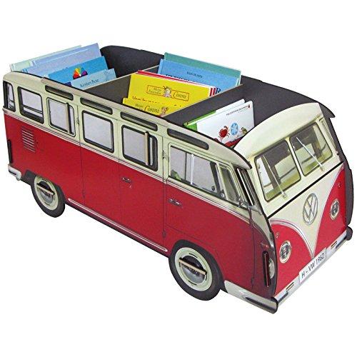 Werkhaus Bücherbus, Bücherregal VW Bus, Rot
