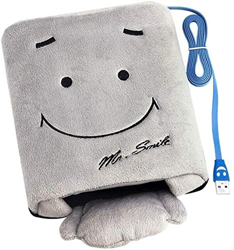 Ofkpo usb riscaldamento mano calda winter mouse pad (grigio)