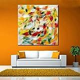 XIAOXINYUAN 100% Handgemaltes Rot Gelb Abstrakt Öl Malerei Moderne Kunst Wand Bild Für Wohnzimmer Home Decor 55 × 55 cm