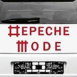 Schriftzug Stäbchen Univers Aufkleber Tattoo die cut car Decal Auto Heck Deko Folie Autofolie Autoaufkleber Depeche Mode (rot)