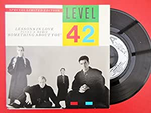 """Level 42 Lessons In Love 7"""" Polydor POSA790 EX/EX1986 picture sleeve"""