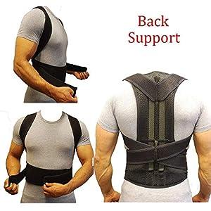 ZSZBACE Rückenorthese Korrektor voll Einstellbare Stützstrebe | Verbessert die Haltung und bietet Lordosenstütze | Für unteren und oberen Rückenschmerz | Männer und Frauen