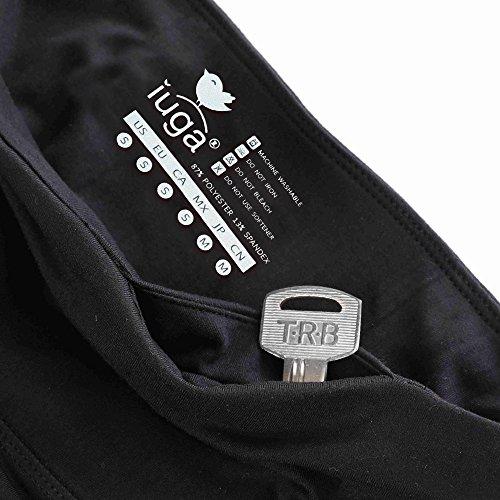 cb7e48585b IUGA High Waist Yoga Pants Inner/Out Pocket Design, Tummy Control