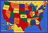 "Kids Rug USA Map Area Rug 39"" x 58"" + Free Shipping"