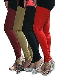 Pack of 4 Cotton Lycra Leggings Combo
