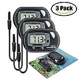 iRoundy LCD Digitales Wasser Thermometer für Terrarium,Aquarium und Vivarium(3 Stück)