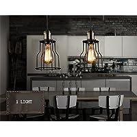 illuminazione romantica Loft retrò moderno e minimalista stile industriale monotesta battuto lampadario in ferro piccolo piano cottura