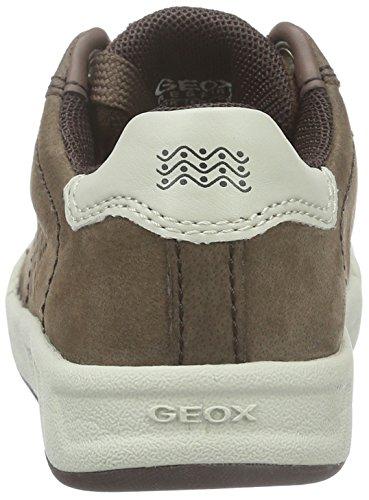 Geox Jungen J Rolk Boy D Low-Top Braun (Coffee/OFF WHITEC6243)