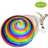 Hover HyperDisc Flying Disc Air Spinner Rainbow Printed Child Kids