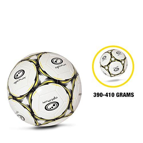 OPTIMUM Football Classico Herren-Fußball, Weiß - Black/Fluro, 5 -