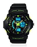 Skmei Sports Stop Watch Analog - Digital Green Dial Men's Watch - AD0955