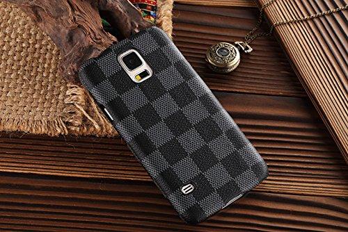 Heil® S5* Schnell Garantie Erfüllt von Amazon * NEUE eleganten Luxus hohen Qualität PU Leder Checker Pattern Wallet Style Flip Cover Schutzhülle für Samsung Galaxy S5S 5nur - Sprint S5 Samsung