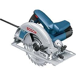 Bosch GKS 190 Professional - Sierra circular, 1 hoja de sierra, adaptador de aspiración, tope paralelo (diametro del disco 190 mm, profundidad de corte 70 mm, 1400 W)