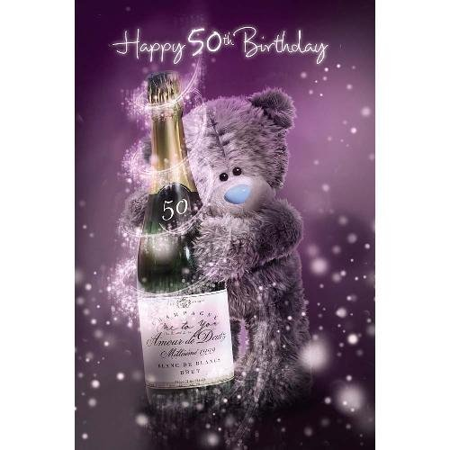 3D Holographic 50th Birthday Me to You Bear Card