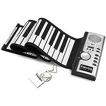 Yoome Portátil 61 Teclas Roll Up Soft Flexible Recargable Electrónica Música Teclado Piano Incorporado Altavoz para Niños Principiante