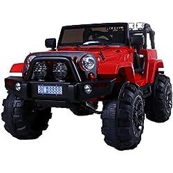 jeep de coche para niños aventura blanco de energía de 12 voltios con mando a distancia para el control remoto