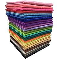 Tissu Feutre Tissu Non Tissé ROSENICE 28 Feuille de Feutrine pour Bricolage Couture 30x30cm