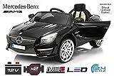 Kinder Elektro Auto Mercedes SL63 AMG 2x 30W 12V Elektroauto Kinderfahrzeug Ferngesteuert Elektro (Rot)