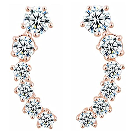 SaySure- Stars Elements Silver Color Gold Color Crystal Earrings
