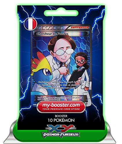 DRESSEUR Chercheur de Fossiles Full Art 110/111 XY 3 Poings Furieux - Booster de 10 cartes Pokemon francaises my-booster